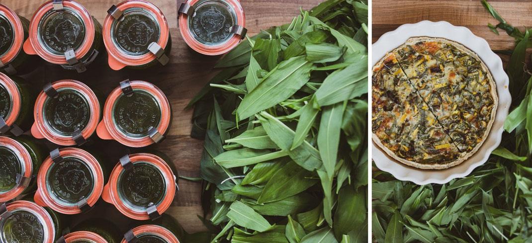 Wir verwenden Bärlauch zum Beispiel als Pesto oder in einer leckeren Quiche