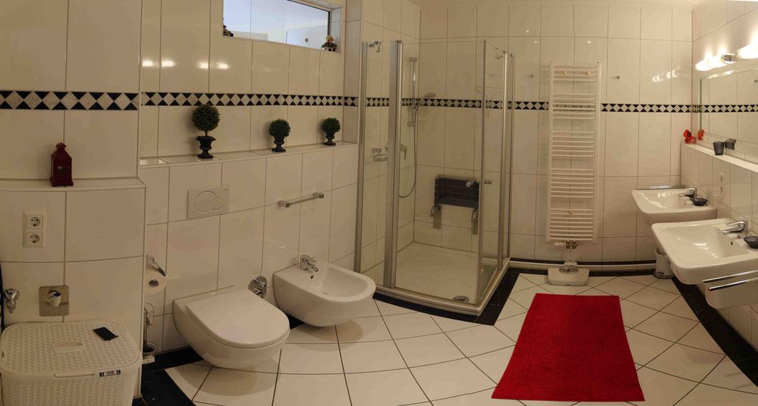 Badezimmer im Strandpalais Duhnen Ferienwohnung Nr. 13