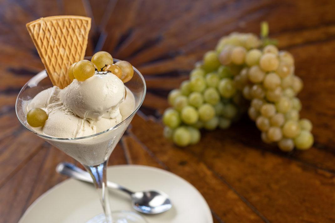 Agriturismo Il Picchio, gelato all'uva bianca fragola fatto in casa