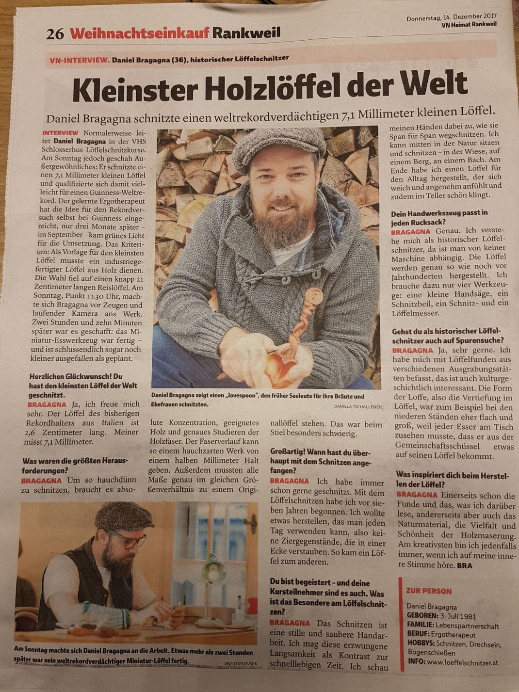 Interview in den Vorarlberger Nachrichten