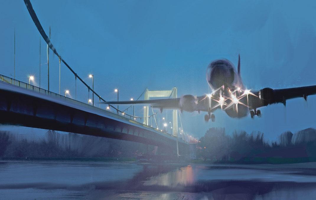 Nach uns der Sinkflug Illustration: Raven Rusch
