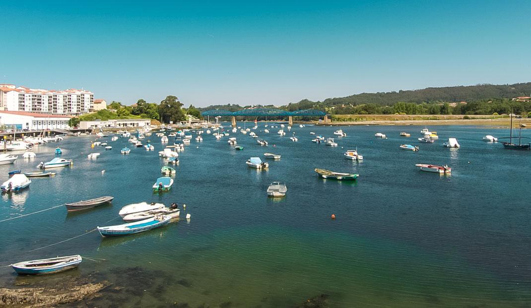 Pontedeume at Ría de Betanzos, Galicia, Spain