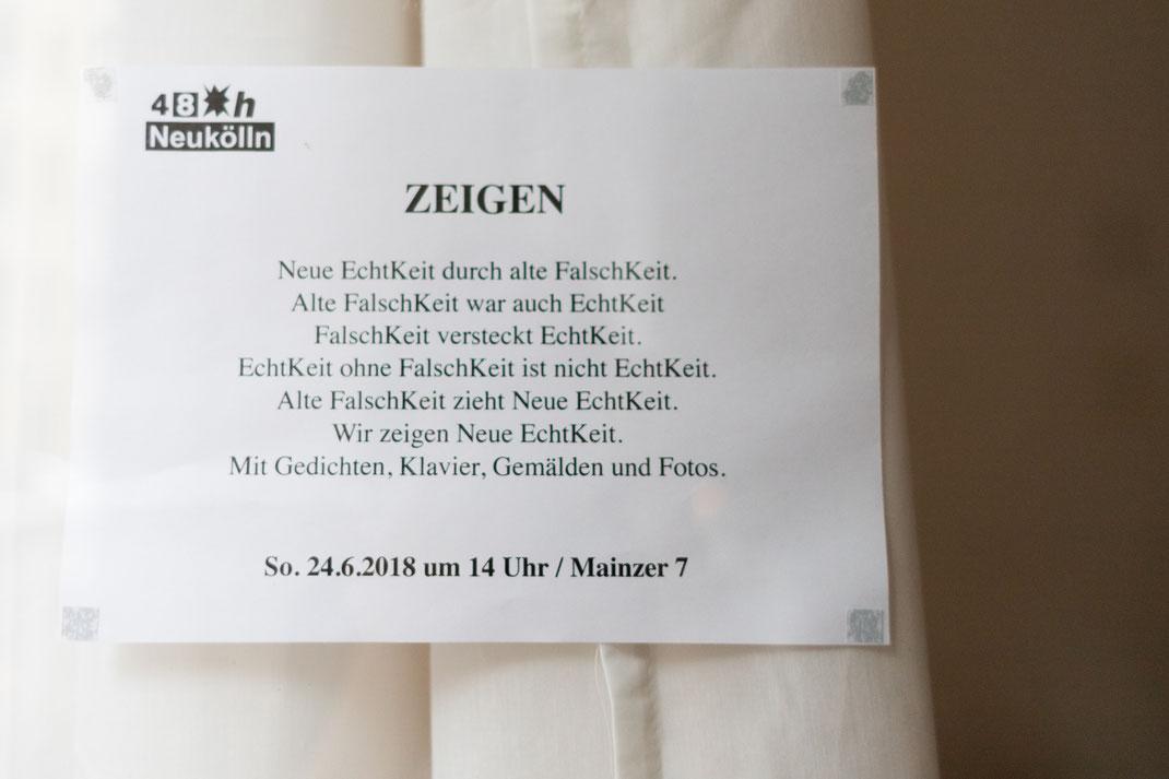 """""""Zeigen"""" text by Minako Matsuishi"""