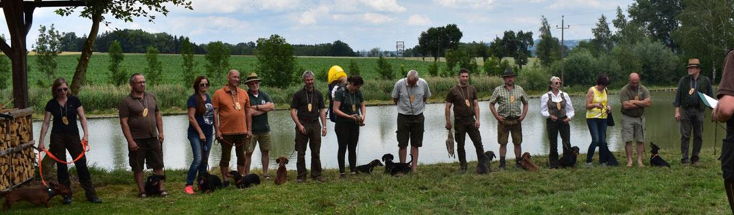Teilnehmer der Wasserprüfung 2018