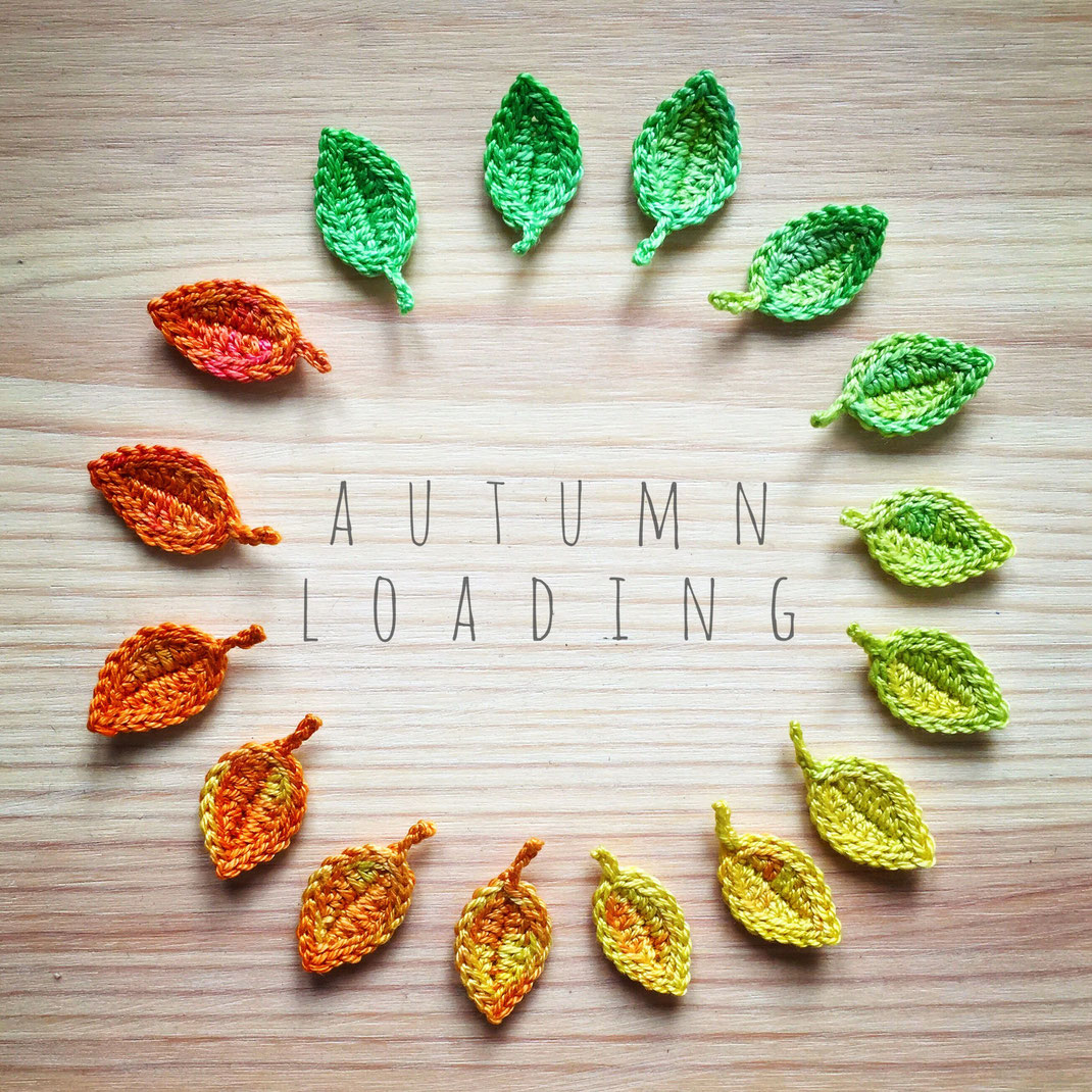 crochet autumn leaves