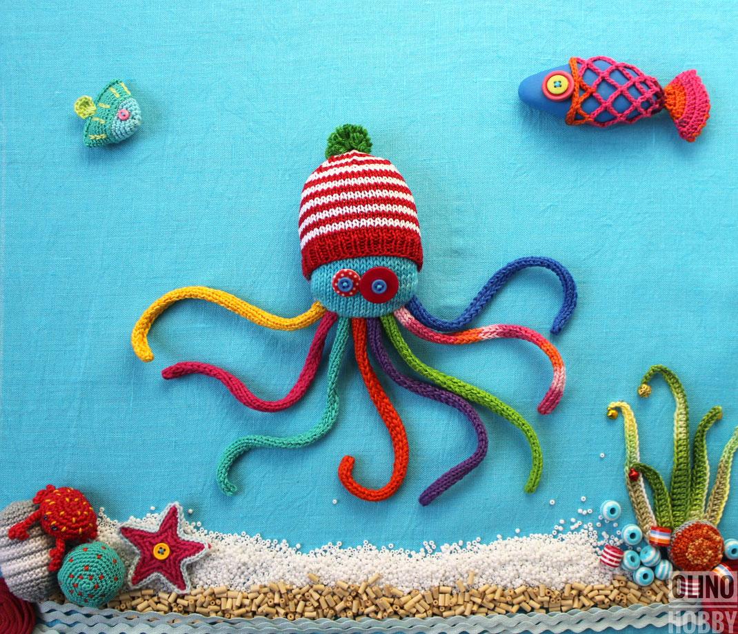 Вязаный осьминог, Knitted Octopus