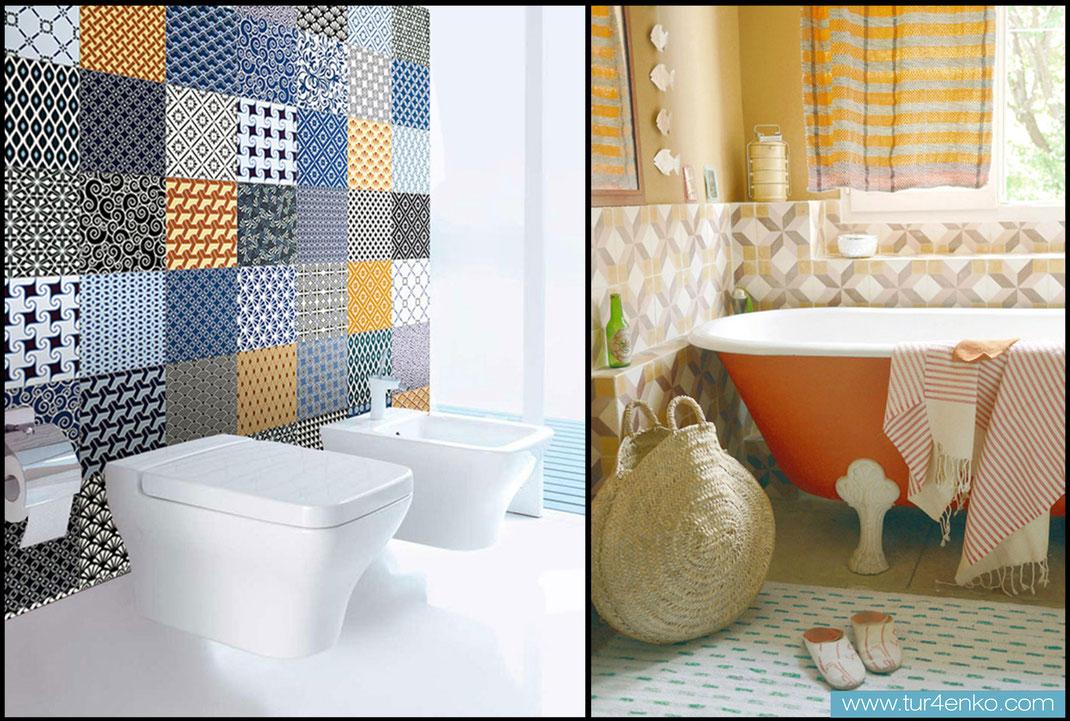 13 плитка пэчворк patchwork tile в ванной