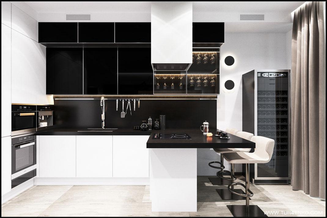 "Дизайн квартиры в стиле минимализм в ЖК ""Пресня Сити"""