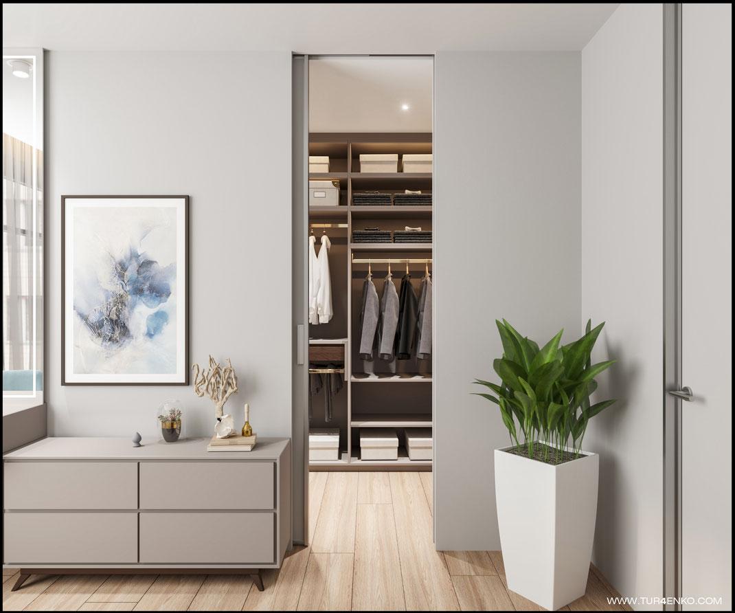 дизайн мастер спальни в пастельных тонах  89163172980 www.tur4enko.com
