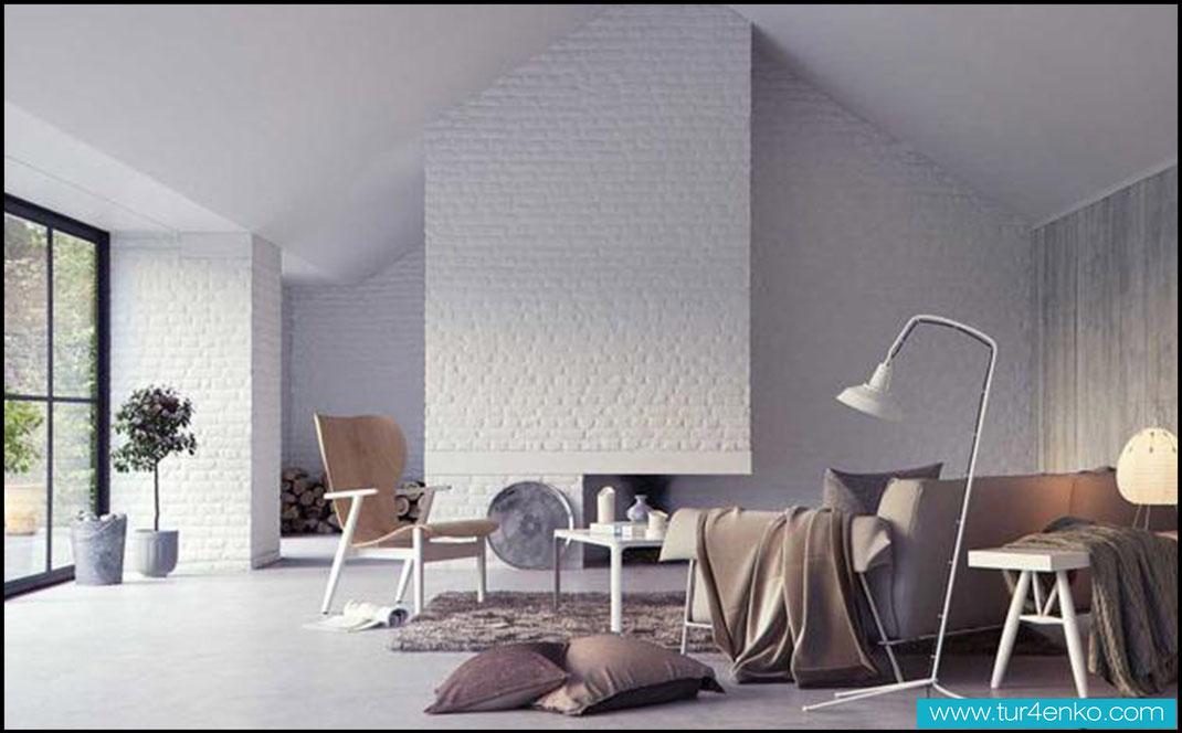 17 белый кирпич white brick ДИЗАЙН ИНТЕРЬЕРОВ МОСКВА 89163172980 www.tur4enko.com