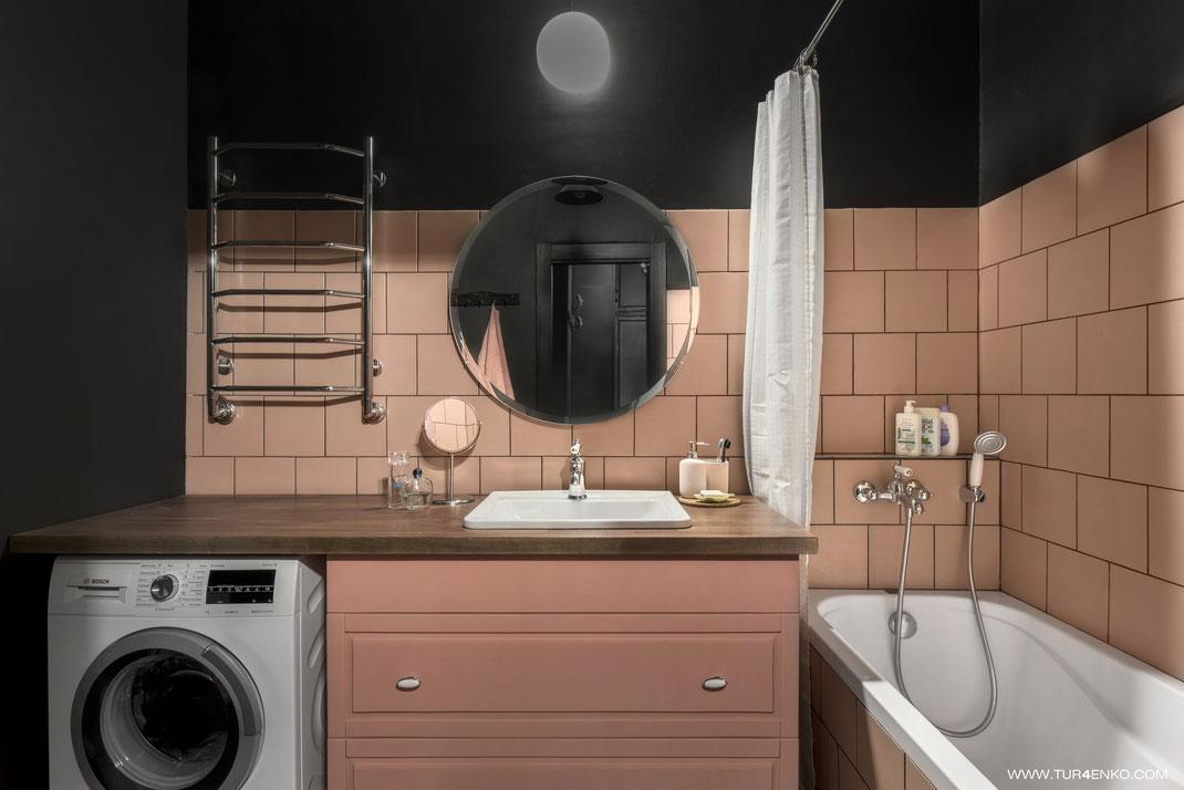 дизайн ванной в стиле лофт 89163172980