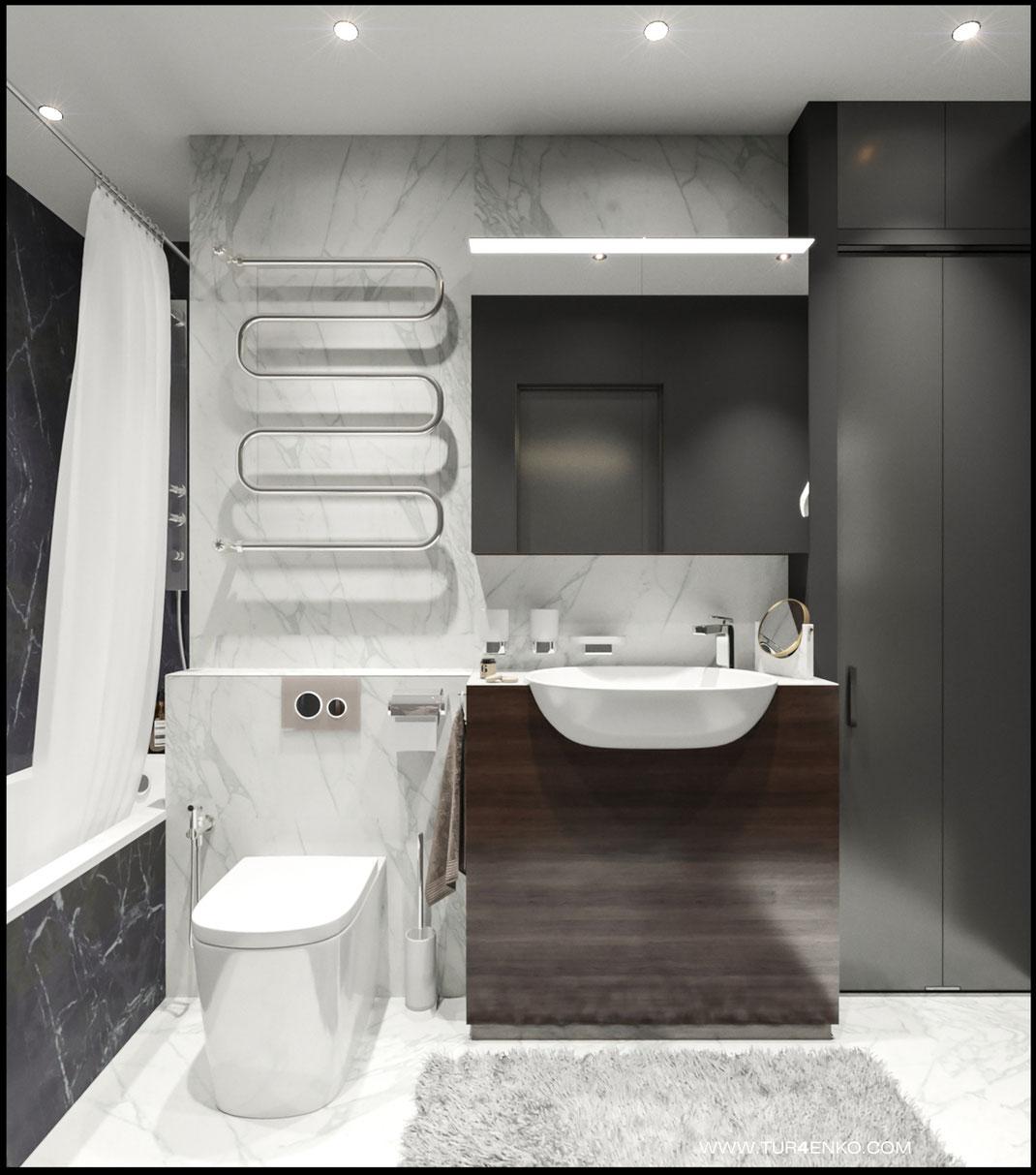 """Дизайн квартиры в современном стиле в ЖК """"Достояние"""" 89163172980 www.tur4enko.com"""