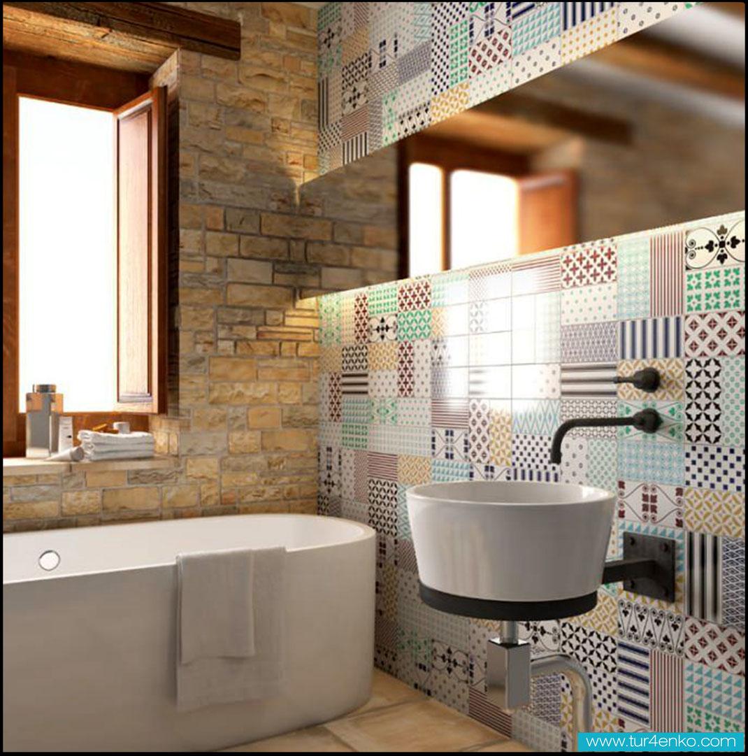 7 плитка пэчворк patchwork tile в ванной