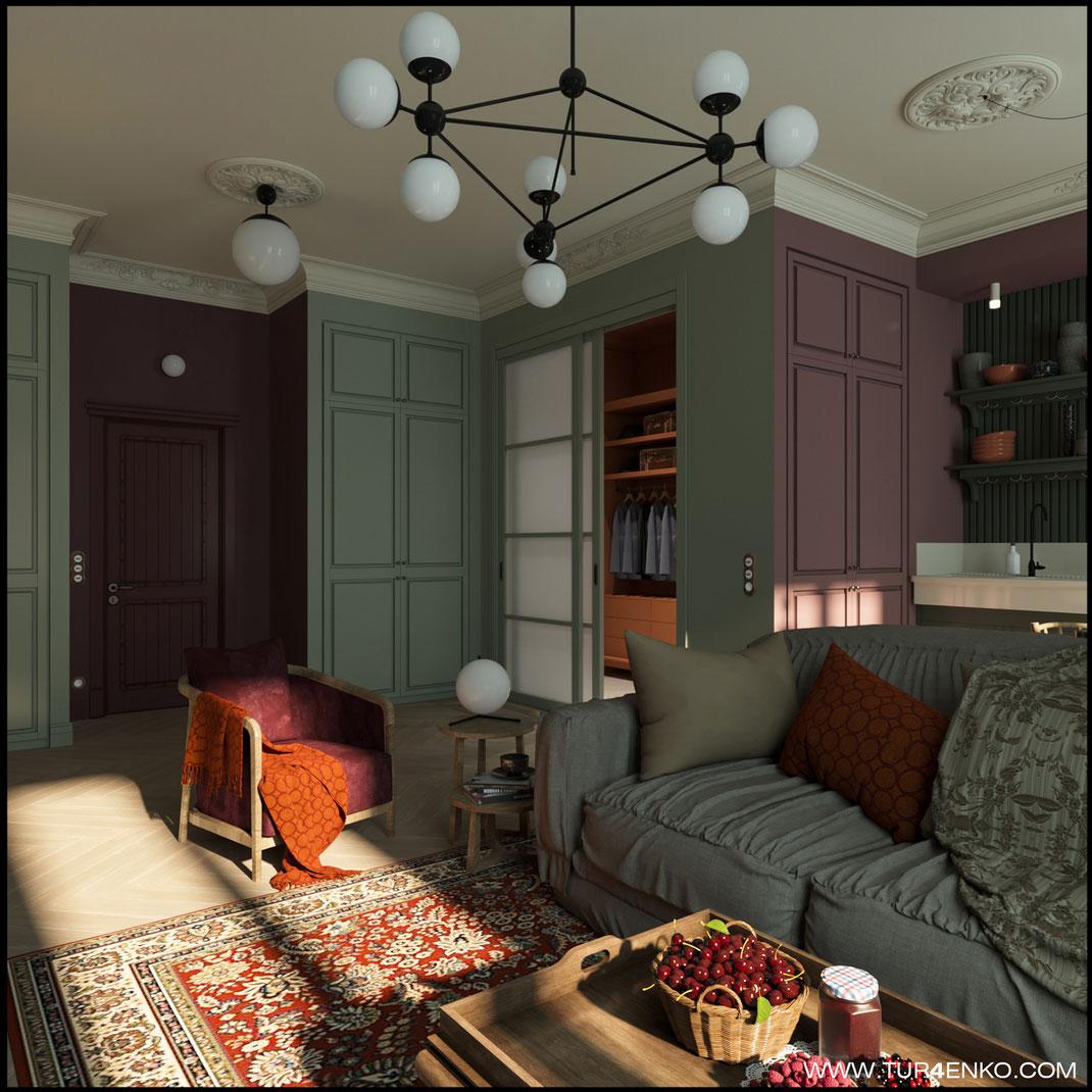 """1 дизайн квартиры в стиле лофт в ЖК """"Символ"""" от Донстрой   89163172980"""