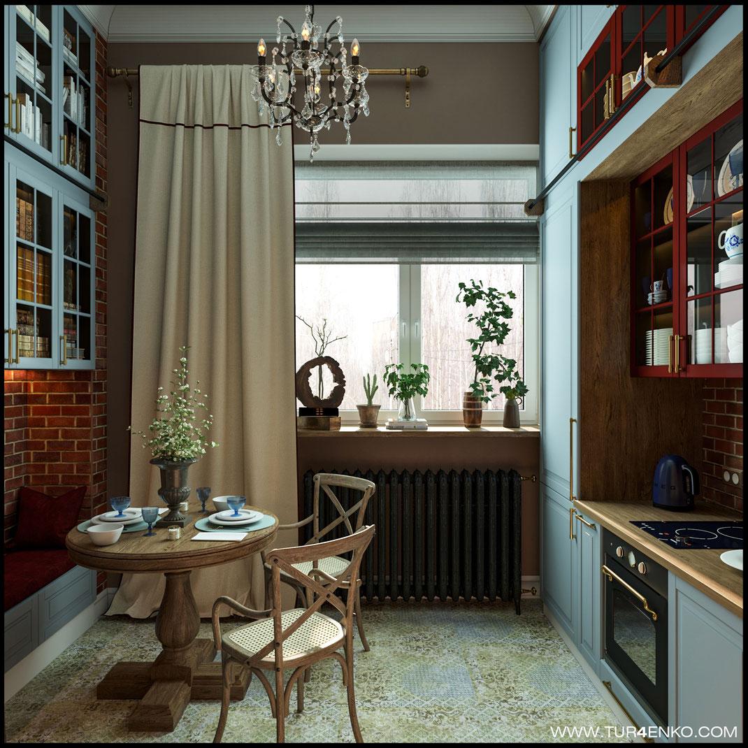дизайн кухни в стиле американская классика лофт винтаж в сталинке   89163172980