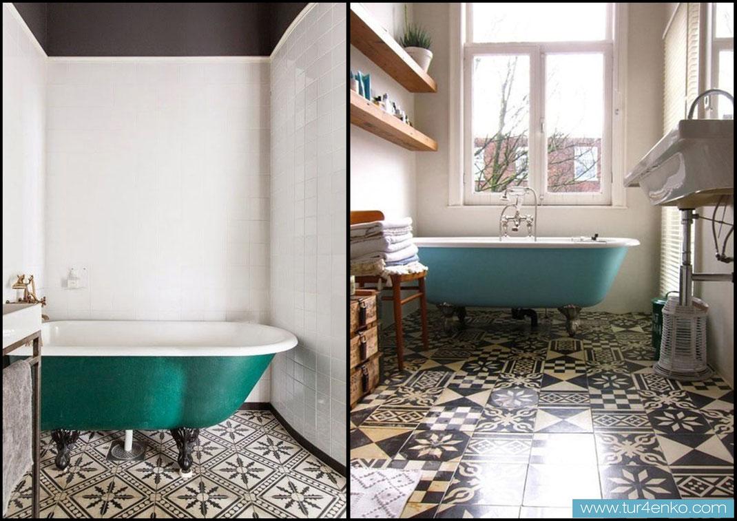 6 плитка пэчворк patchwork tile в ванной