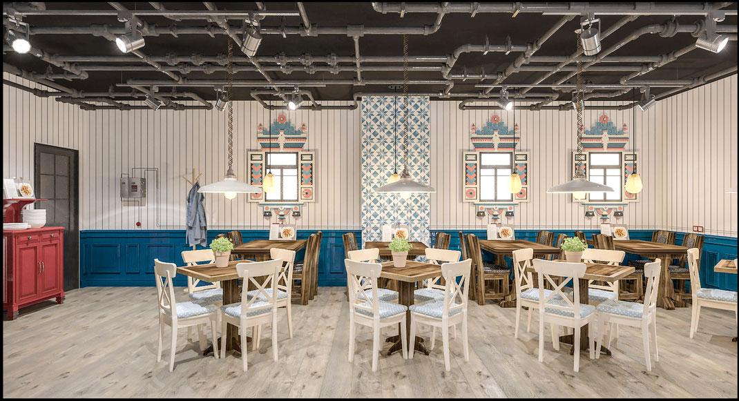 Дизайн ресторанов и кафе в Москве под ключ