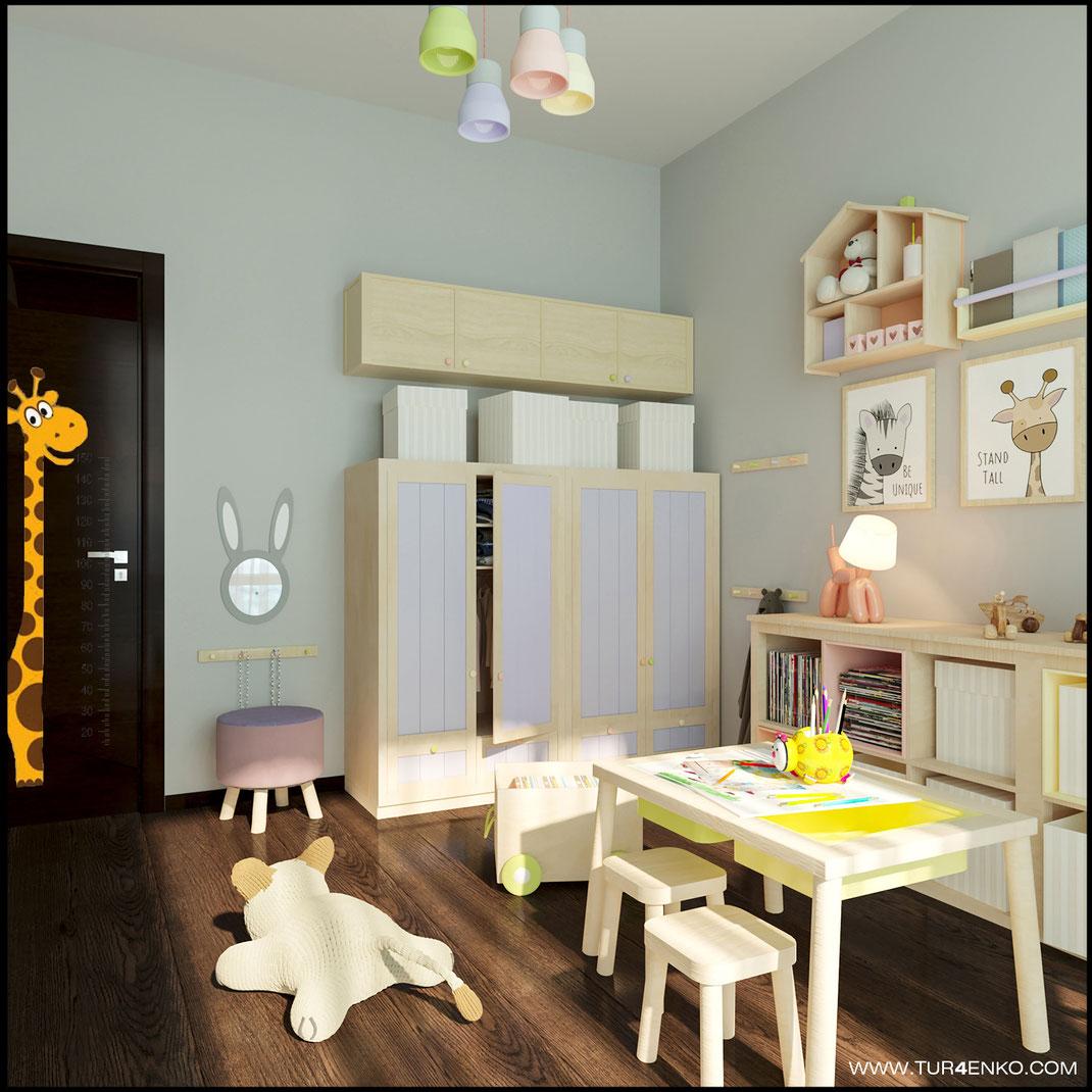 детская комната в скандинавском стиле в ЖК ЛАЙФ Кутузовский 89163172980