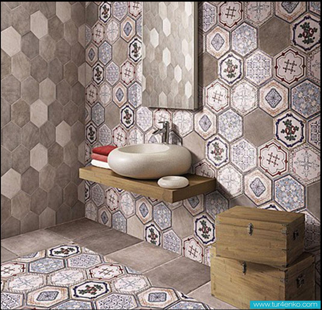 16 плитка пэчворк patchwork tile в ванной
