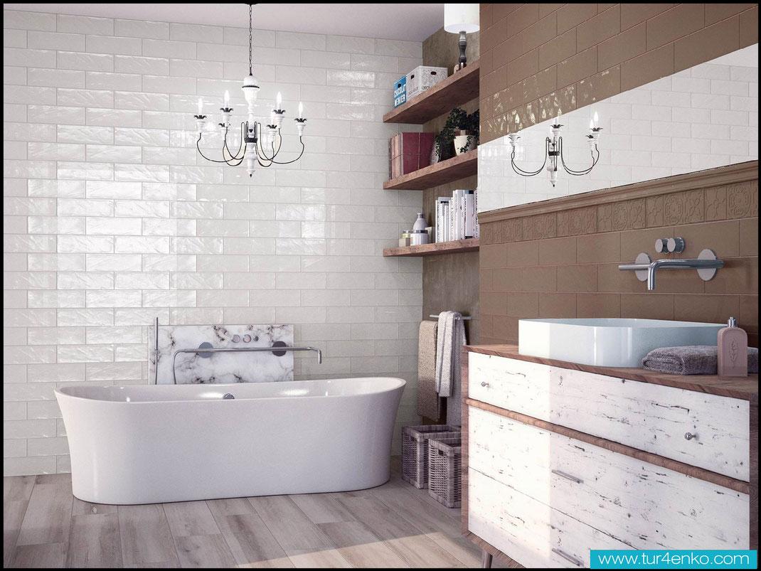 5 плитка кабанчик (метро) в ванной ДИЗАЙН ИНТЕРЬЕРОВ МОСКВА 89163172980 www.tur4enko.com