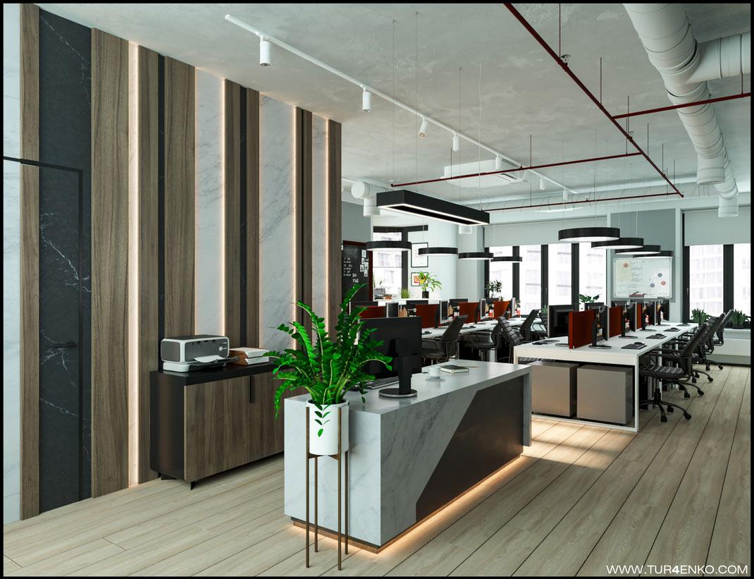 1 дизайн офиса в стиле лофт в ЖК ВТБ арена парк Москва 89163172980