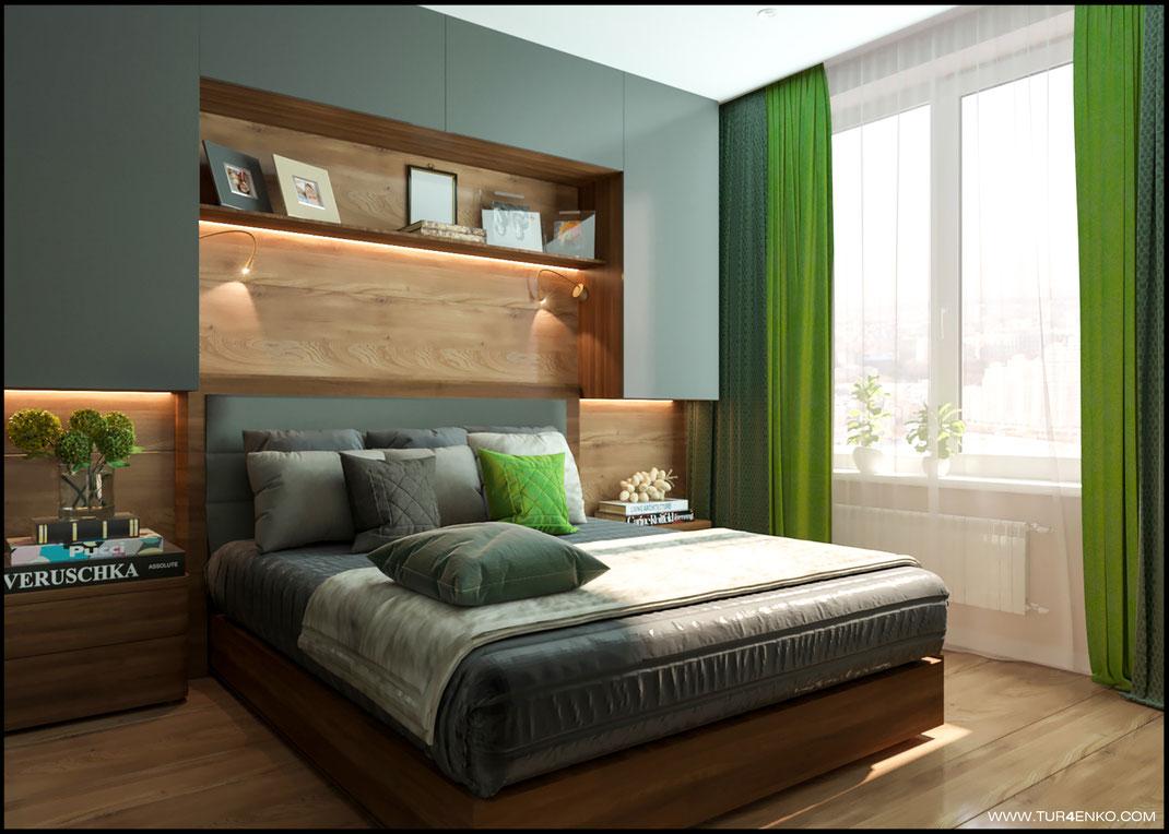 оригинальная планировка спальни в ЖК Среда 89163172980