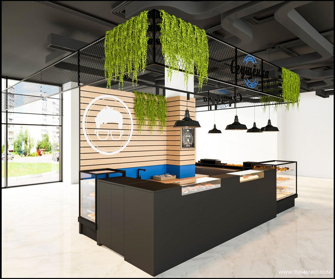 1 Дизайн кофейни фудкорт www.tur4enko.com 89163172980