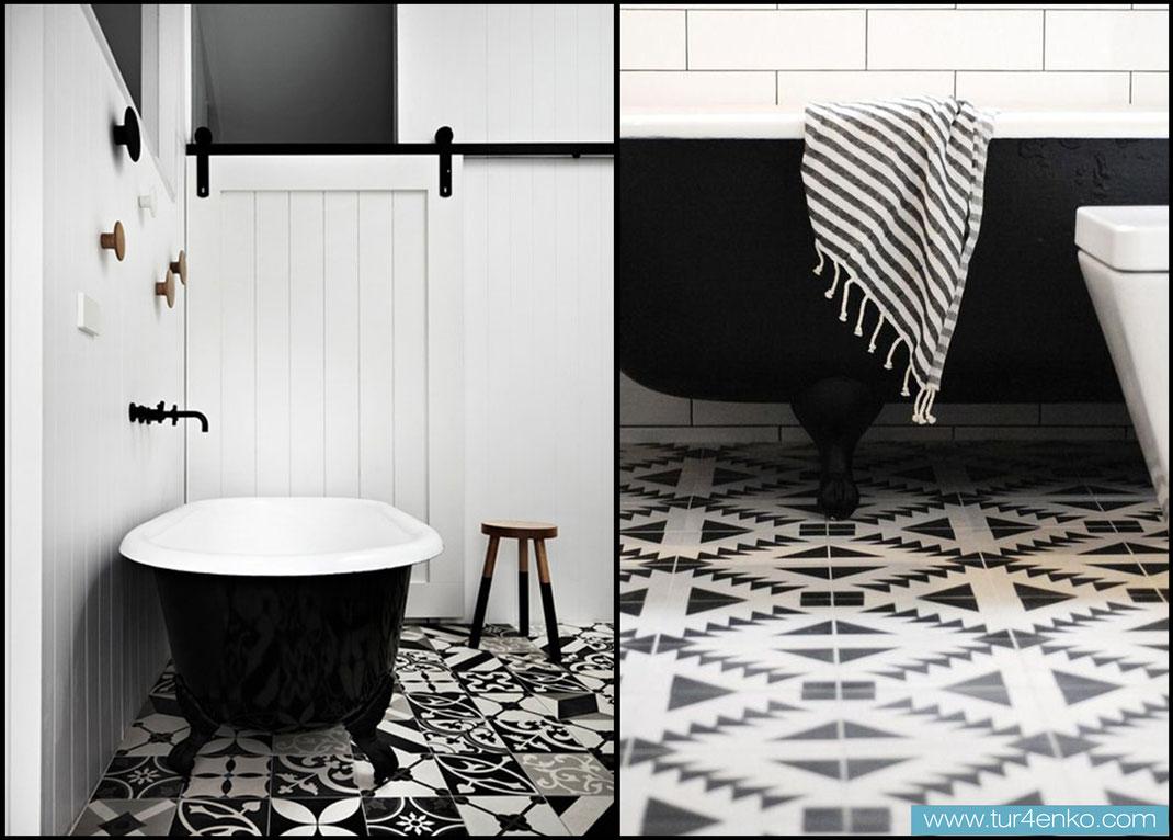 2 плитка пэчворк patchwork tile в ванной