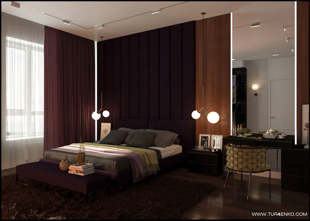 дизайн мастер спальни в жилом доме в КП Чистые пруды 89163172980