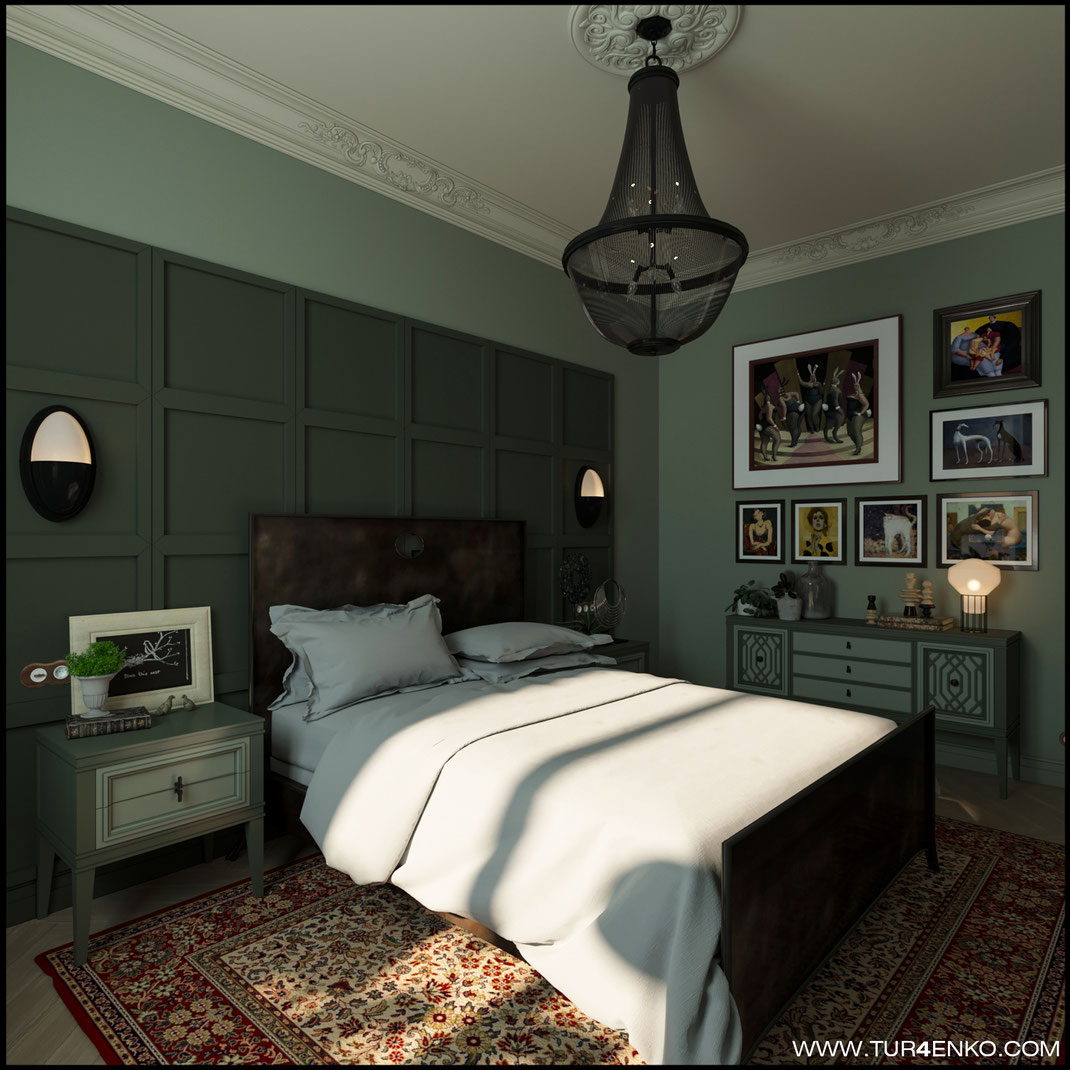 "1 дизайн спальни  в стиле лофт в ЖК ""Символ"" от Донстрой   89163172980"