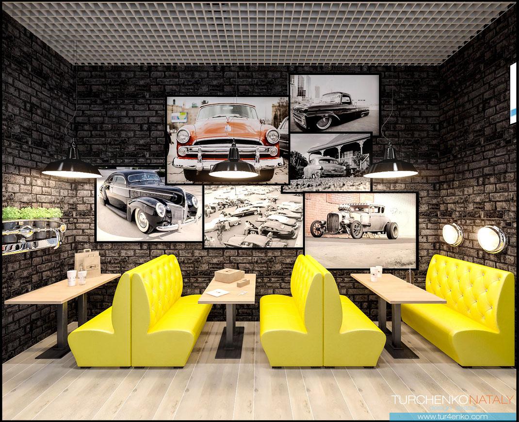 Дизайн кафе и ресторанов в Москве www/Tur4enko.com