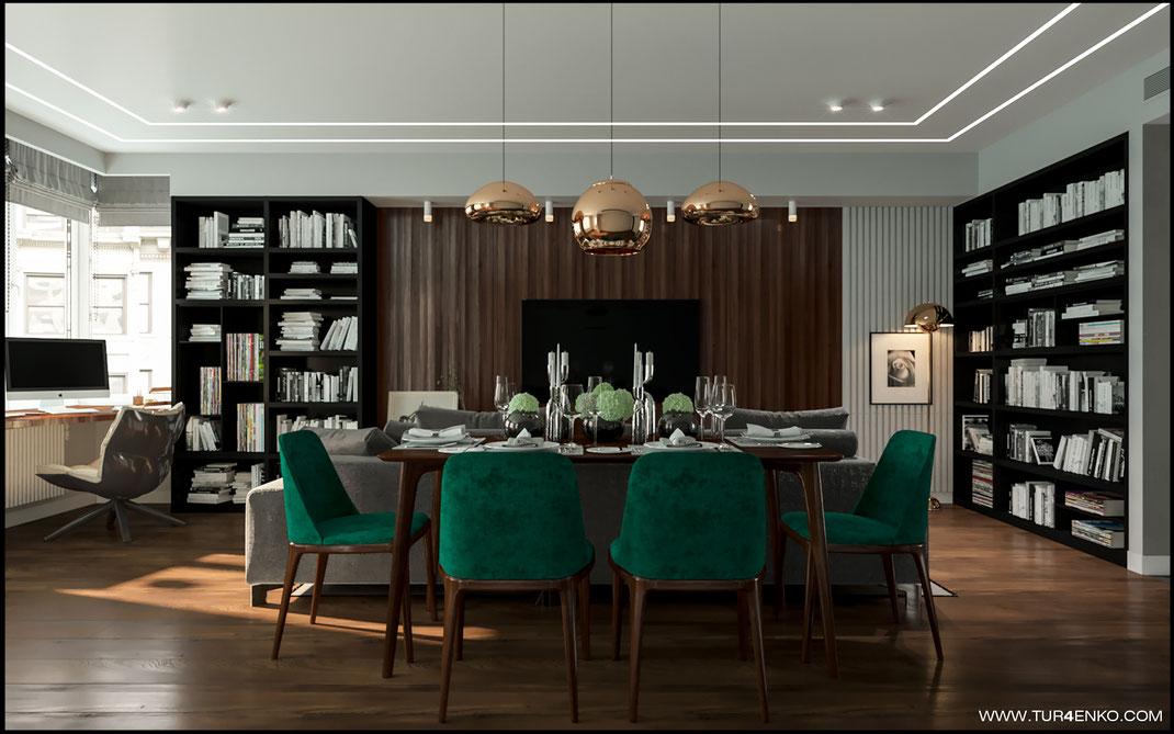 """дизайн кухни-гостиной в современном стиле в ЖК """"Арт"""" Крост 89163172980 Дизайн интерьеров Москва"""