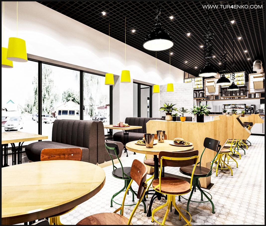 1 дизайн кафе HUNGRY COW Москва 89163172980
