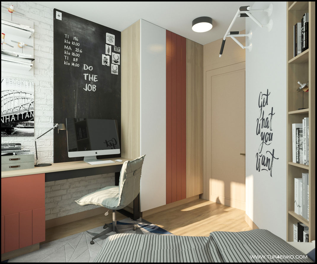 дизайн детской комнаты для мальчика в стиле лофт 89163172980