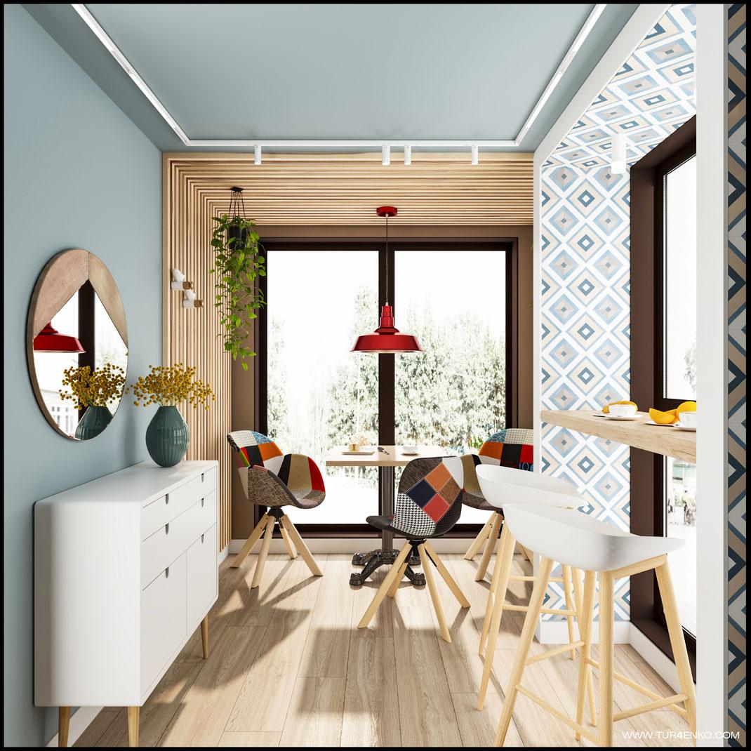 1 Дизайн кафе в скандинавском стиле в контейнере www.tur4enko.com 89163172980