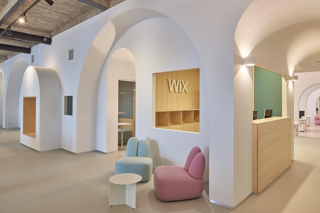 Дизайн офиса WIX.COM в Вильнюсе