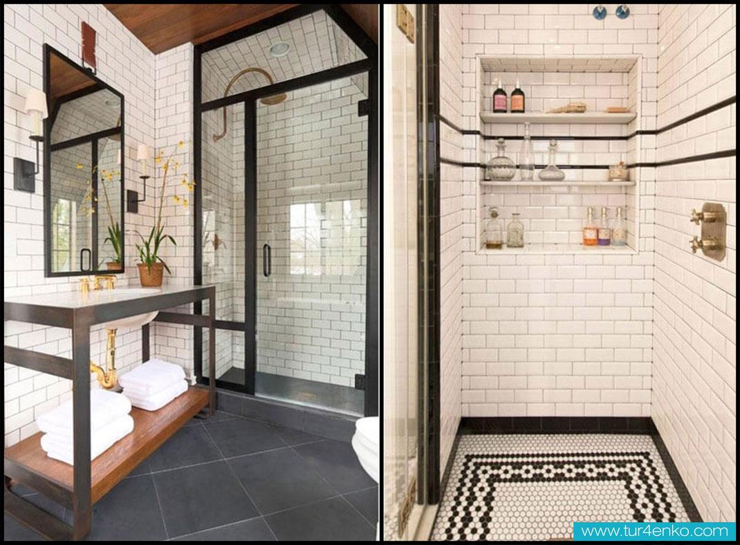 18 плитка кабанчик (метро) в ванной ДИЗАЙН ИНТЕРЬЕРОВ МОСКВА 89163172980 www.tur4enko.com