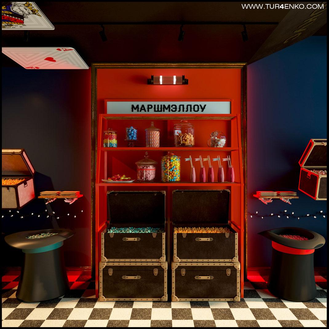 дизайн магазина сладостей и конфет Фокус Мармеладокус 89163172980