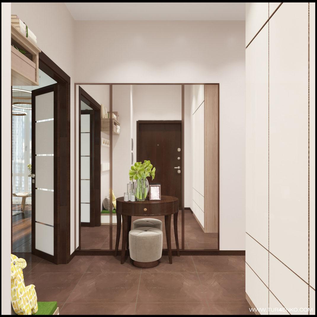 дизайн квартиры в современном стиле в ЖК ЛАЙФ Кутузовский 89163172980