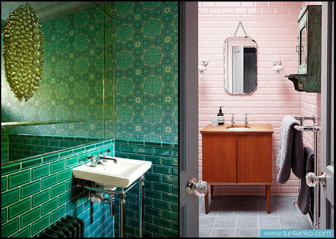 6 плитка кабанчик (метро) в ванной ДИЗАЙН ИНТЕРЬЕРОВ МОСКВА 89163172980 www.tur4enko.com