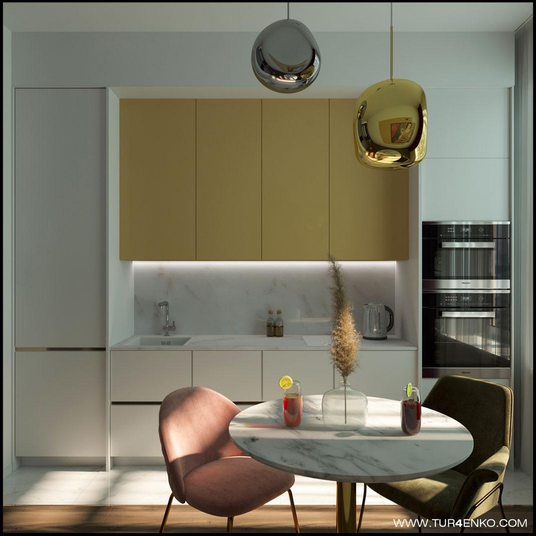 """дизайн кухни в современном стиле в ЖК """"Зеленоград сити"""" 89163172980"""