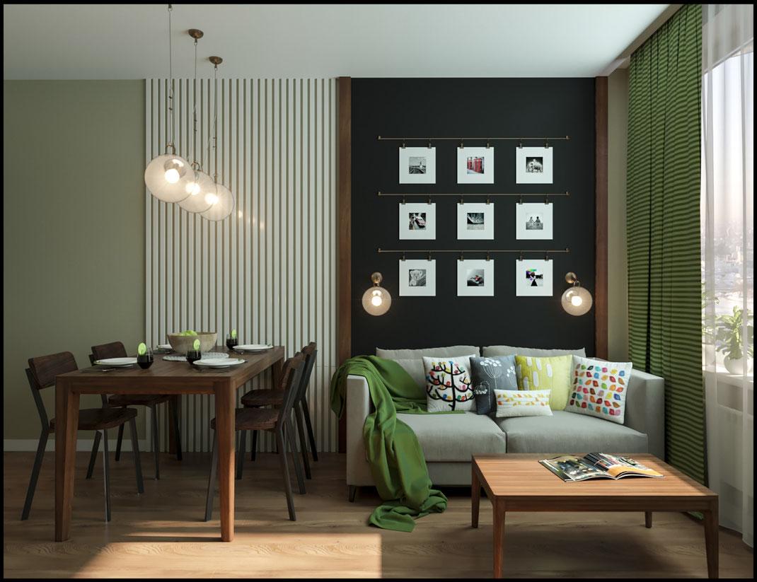 современный дизайн гостиной в ЖК Среда 89163172980