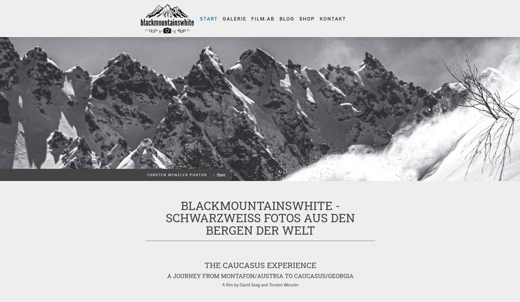 Unser Kooperationspartner der Fotograf und Filmemacher Torsten Wenzler mit seinem Projekt www.blackmountainswhite.com