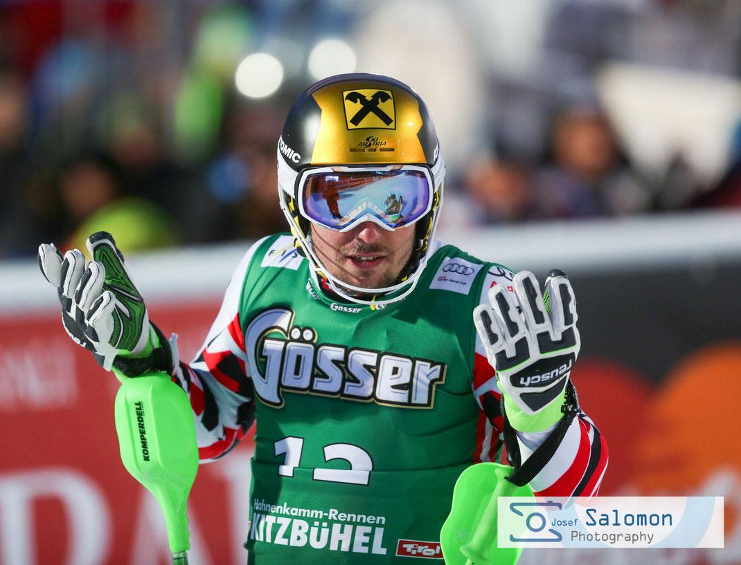 Marcel Hirscher Kitzbühel 2016 Superkombi Slalom  ©SEPA.Media / Josef Salomon