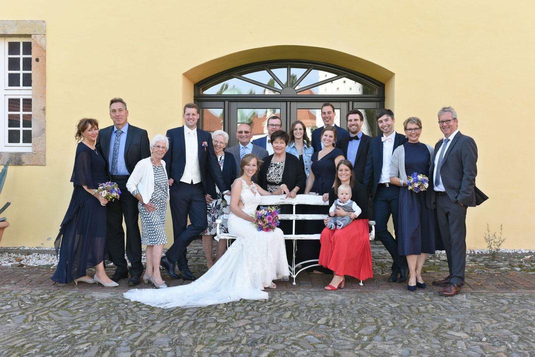 Familienshooting auf Schloss Hünefeld
