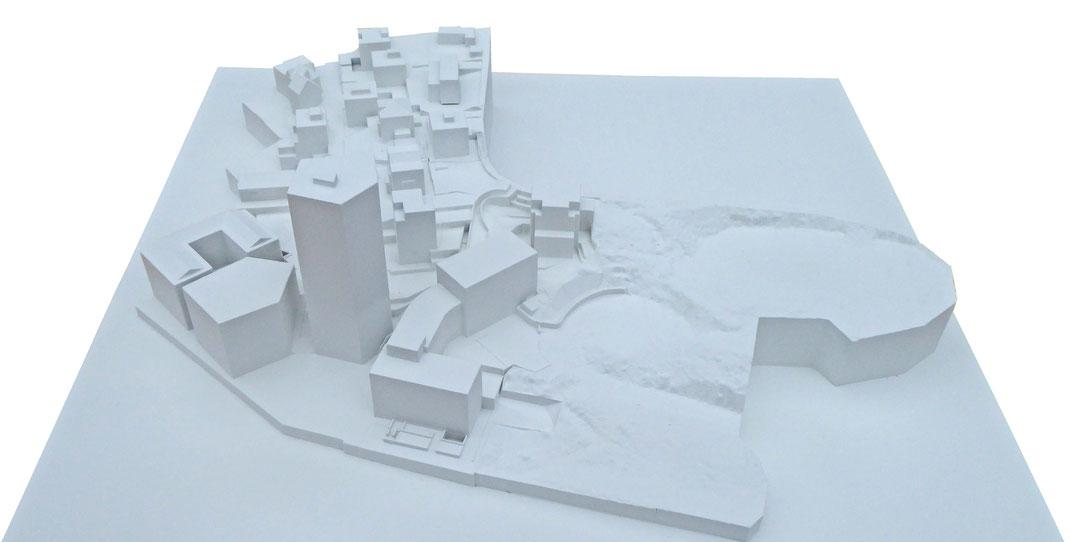 3D gedrucktes Stadtmodell aus Geoscanndaten