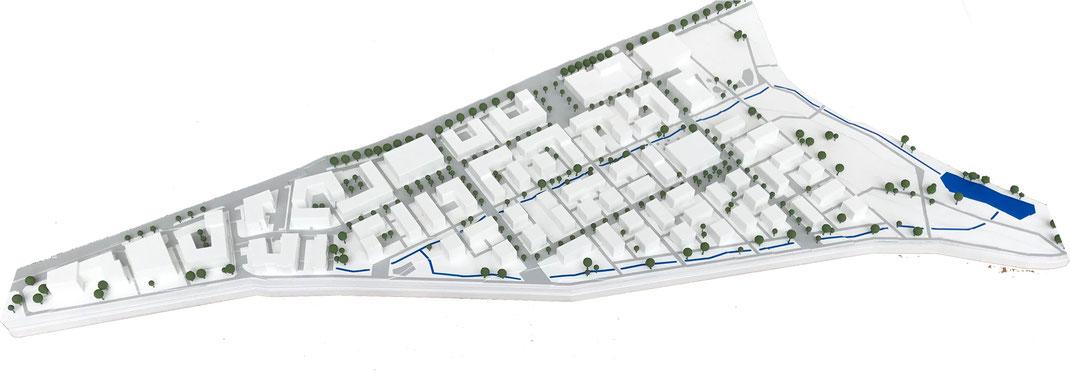 Archikonstrukt 3d-Druck-Stadtmodell