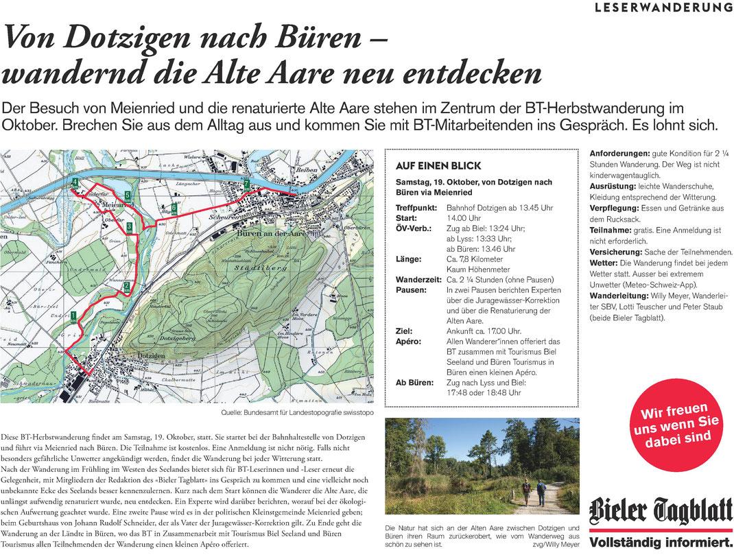 Leserwanderung Bieler Tagblatt