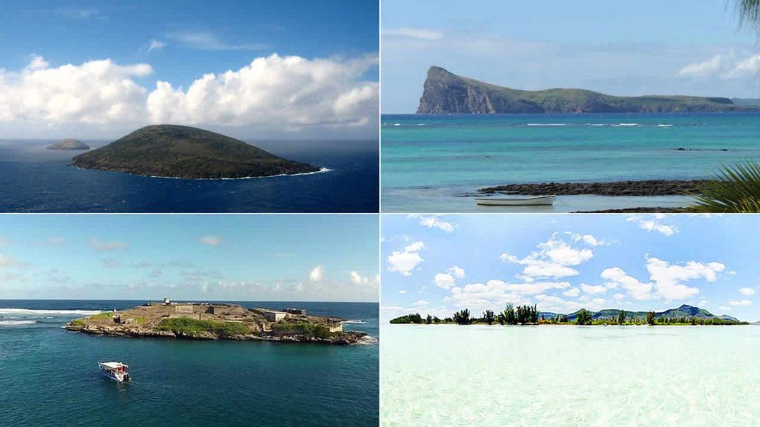 Serpent Island et Round Island, Gunner's Quoin, Île de la Passe et Île-aux-Bénitiers.