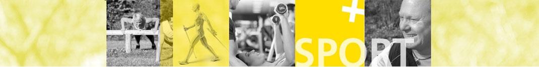 Rainer Höhnle Stern auf einem Banner als Physiotherapeut Fitnesstrainer und Vitaltrainer der zugleich N.M.S. und Ernährungsberatung macht zeigt sein Angebot.